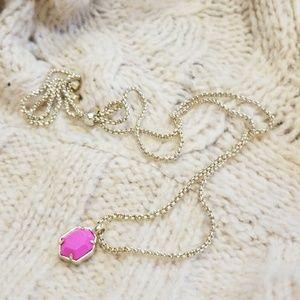Kendra Scott Pink Oliver Necklace